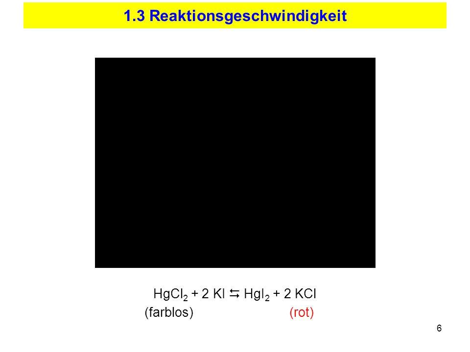 1.3 Reaktionsgeschwindigkeit