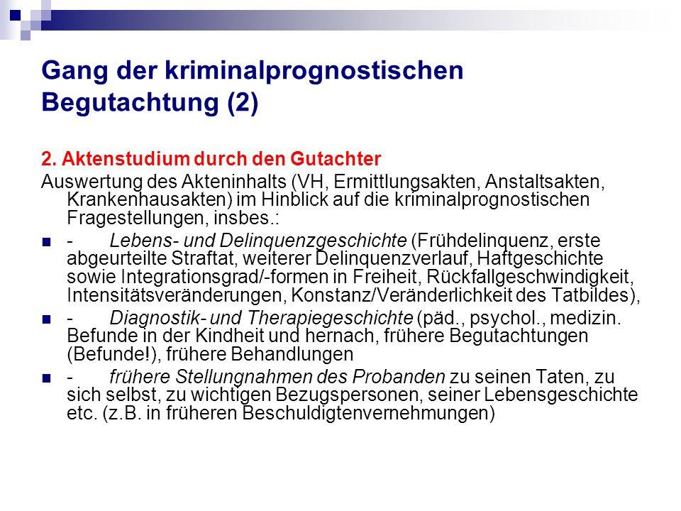 Gang der kriminalprognostischen Begutachtung (2)