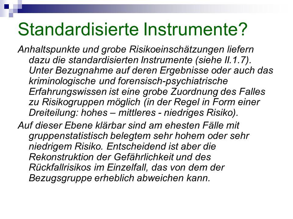 Standardisierte Instrumente