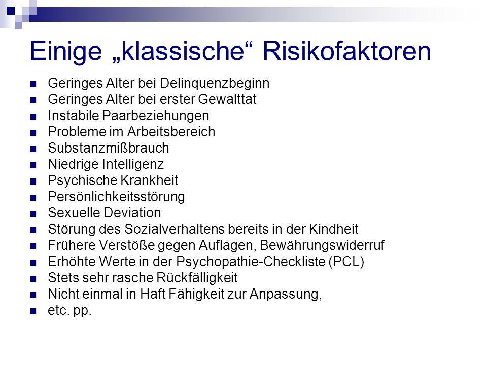 """Einige """"klassische Risikofaktoren"""