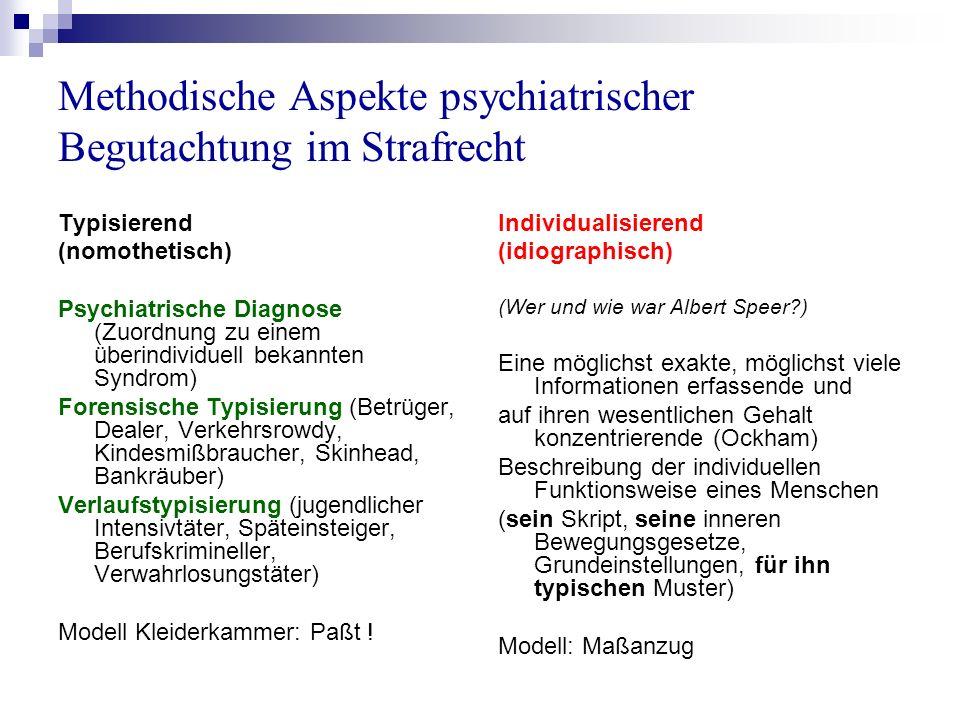 Methodische Aspekte psychiatrischer Begutachtung im Strafrecht