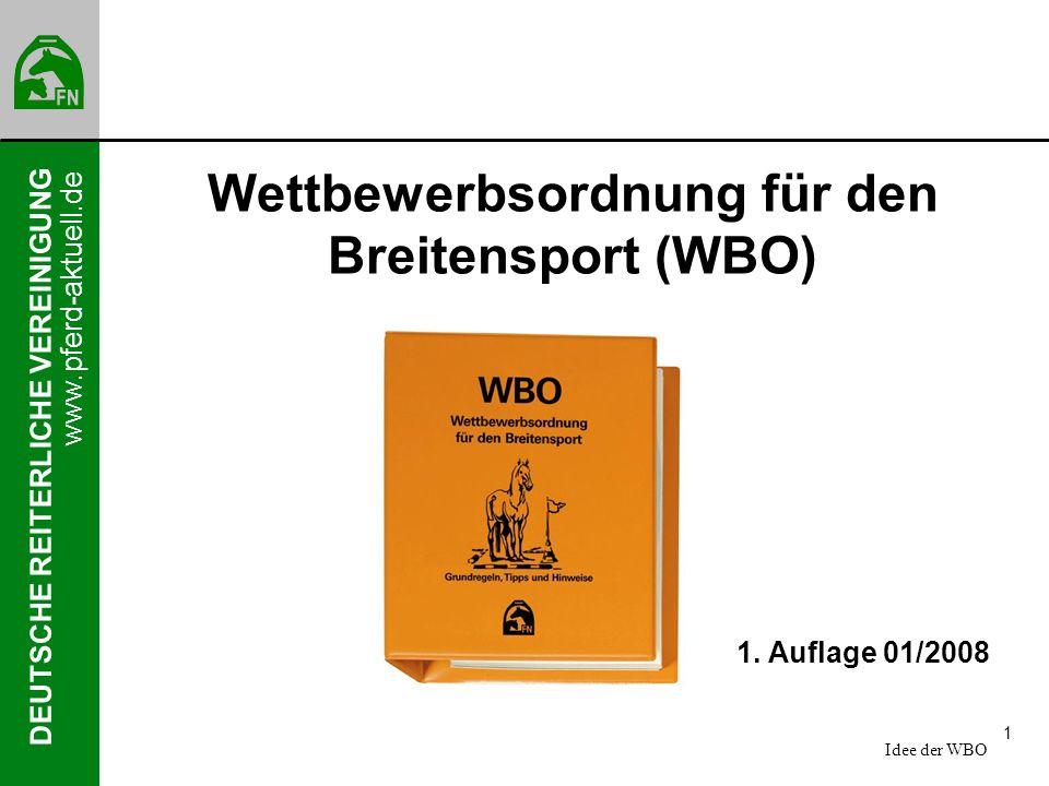 Wettbewerbsordnung für den Breitensport (WBO)