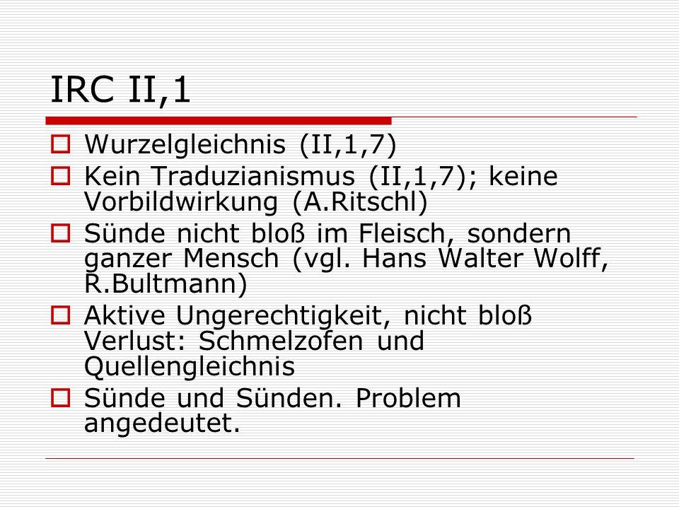 IRC II,1 Wurzelgleichnis (II,1,7)