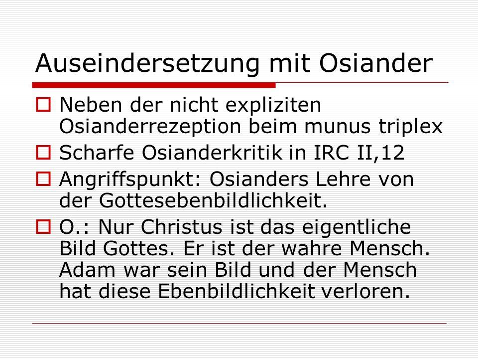 Auseindersetzung mit Osiander