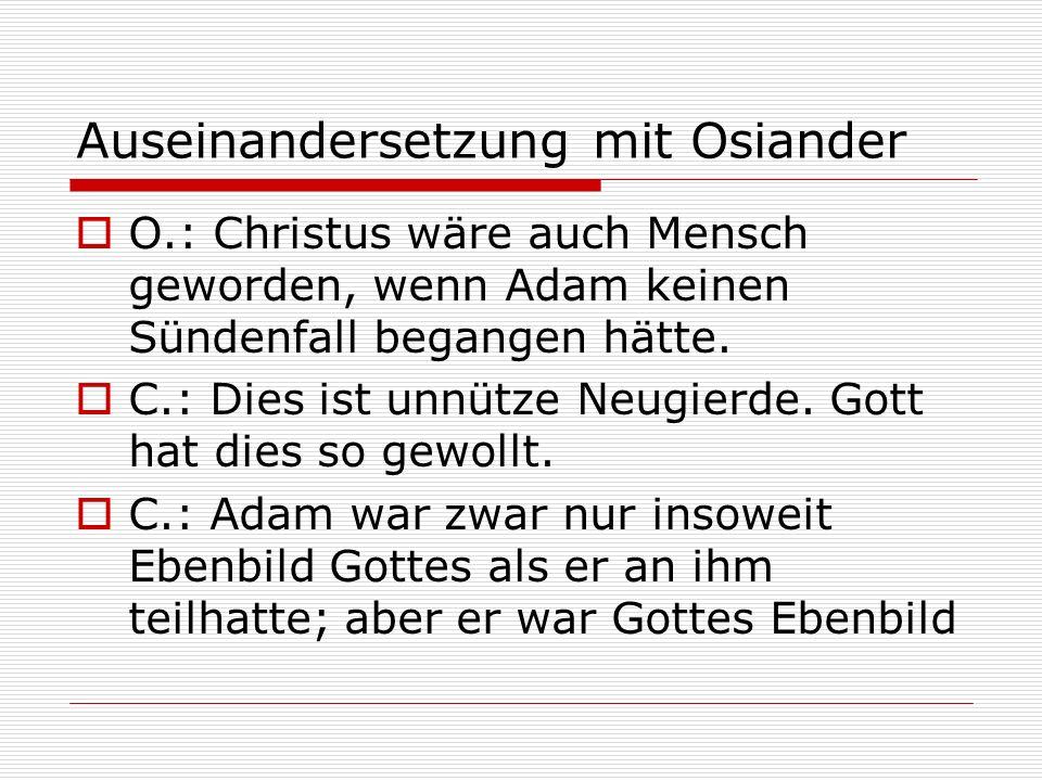 Auseinandersetzung mit Osiander