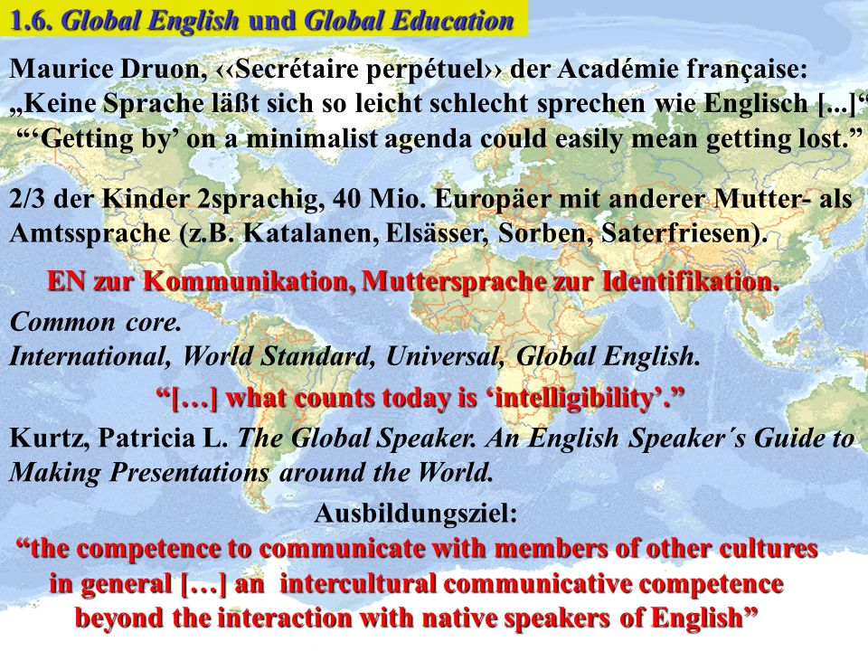 1.6. Global English und Global Education