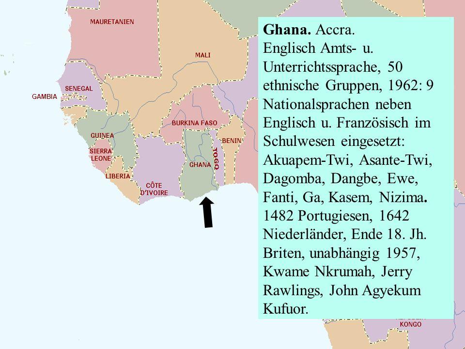 Ghana. Accra. Englisch Amts- u
