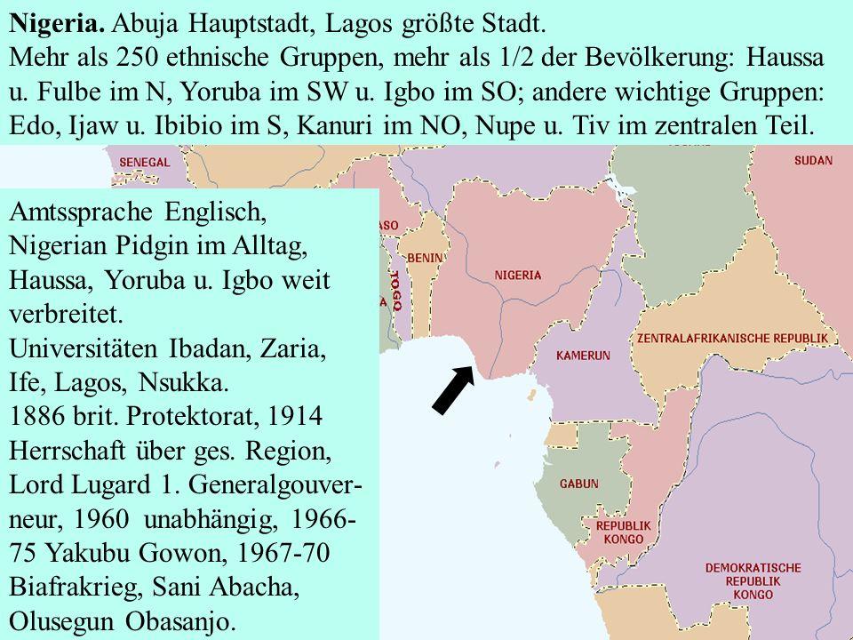 Nigeria. Abuja Hauptstadt, Lagos größte Stadt.
