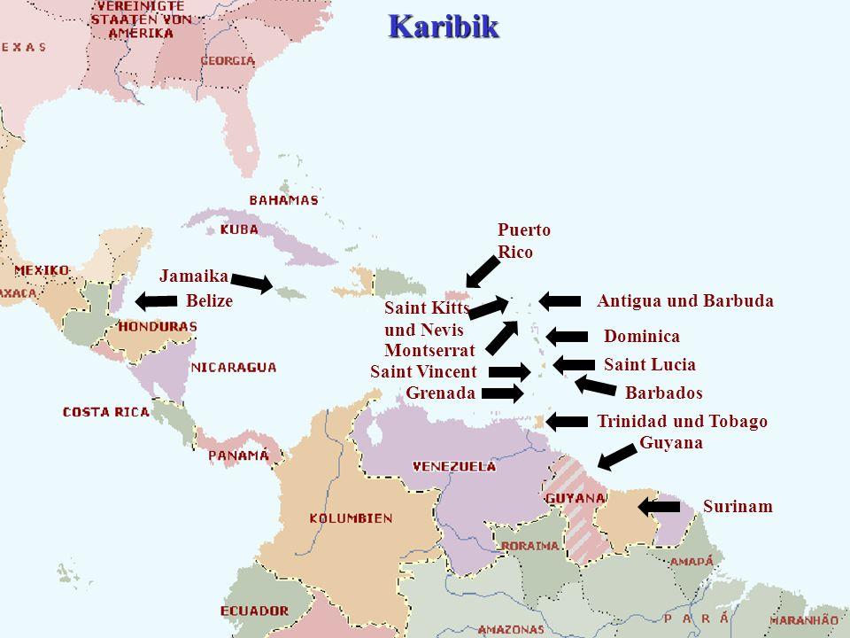 Karibik Puerto Rico Jamaika Belize Antigua und Barbuda