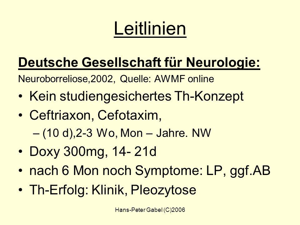 Leitlinien Deutsche Gesellschaft für Neurologie: