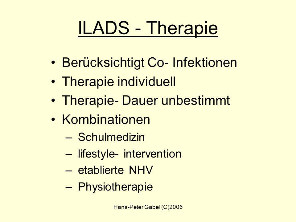ILADS - Therapie Berücksichtigt Co- Infektionen Therapie individuell