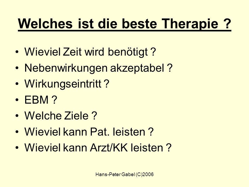 Welches ist die beste Therapie