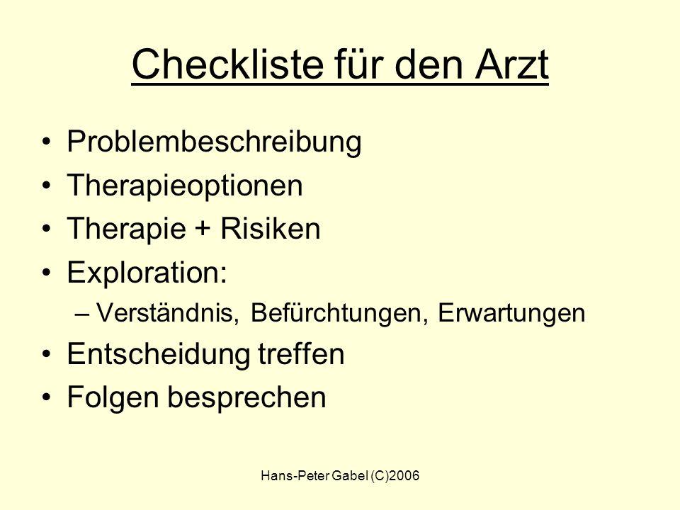 Checkliste für den Arzt