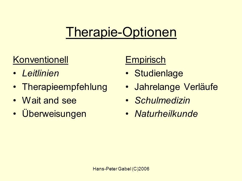 Therapie-Optionen Konventionell Leitlinien Therapieempfehlung