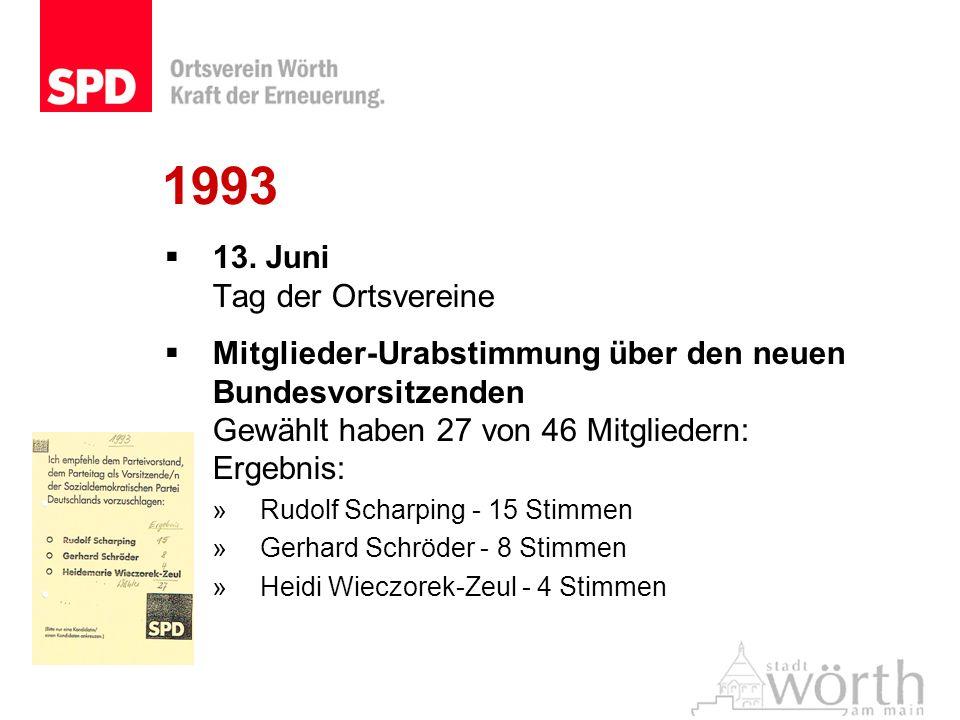 1993 13. Juni Tag der Ortsvereine