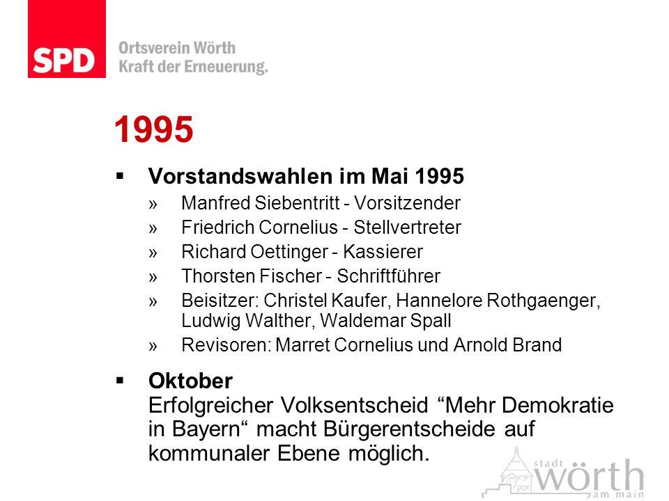 1995 Vorstandswahlen im Mai 1995