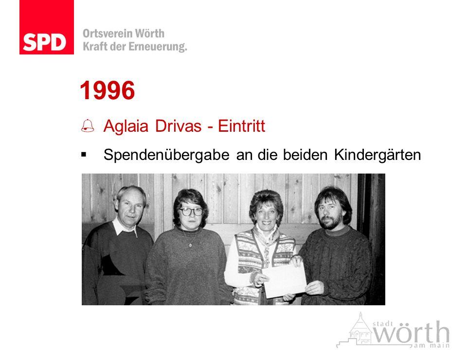 1996 Aglaia Drivas - Eintritt