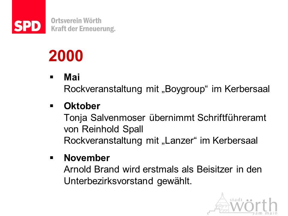 "2000 Mai Rockveranstaltung mit ""Boygroup im Kerbersaal"