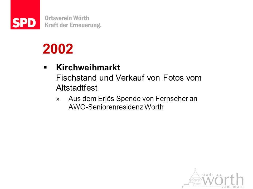 2002 Kirchweihmarkt Fischstand und Verkauf von Fotos vom Altstadtfest