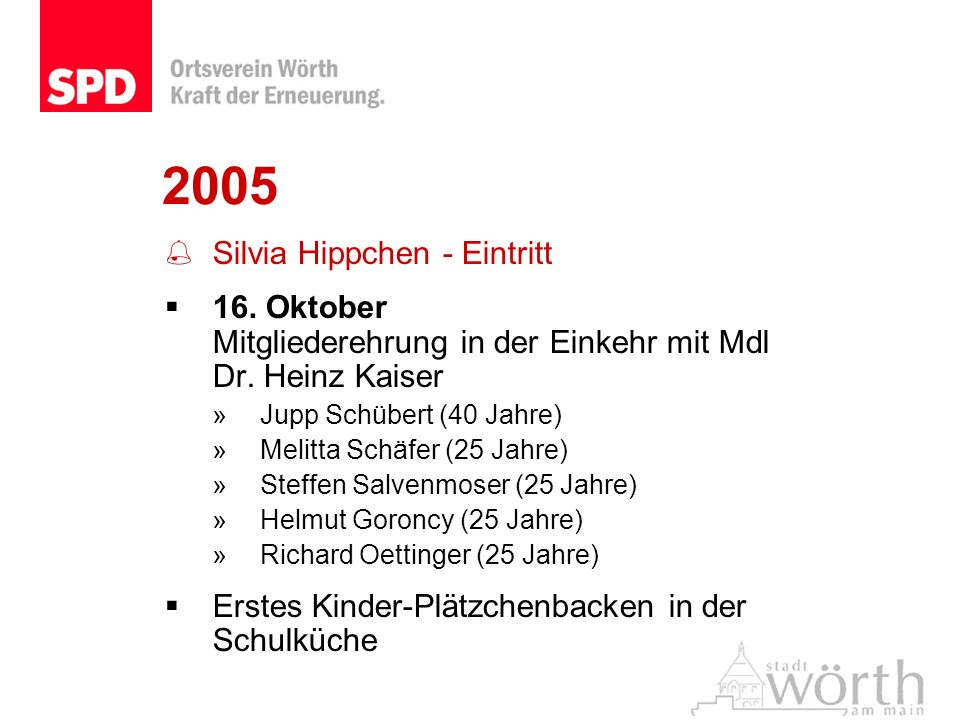 2005 Silvia Hippchen - Eintritt