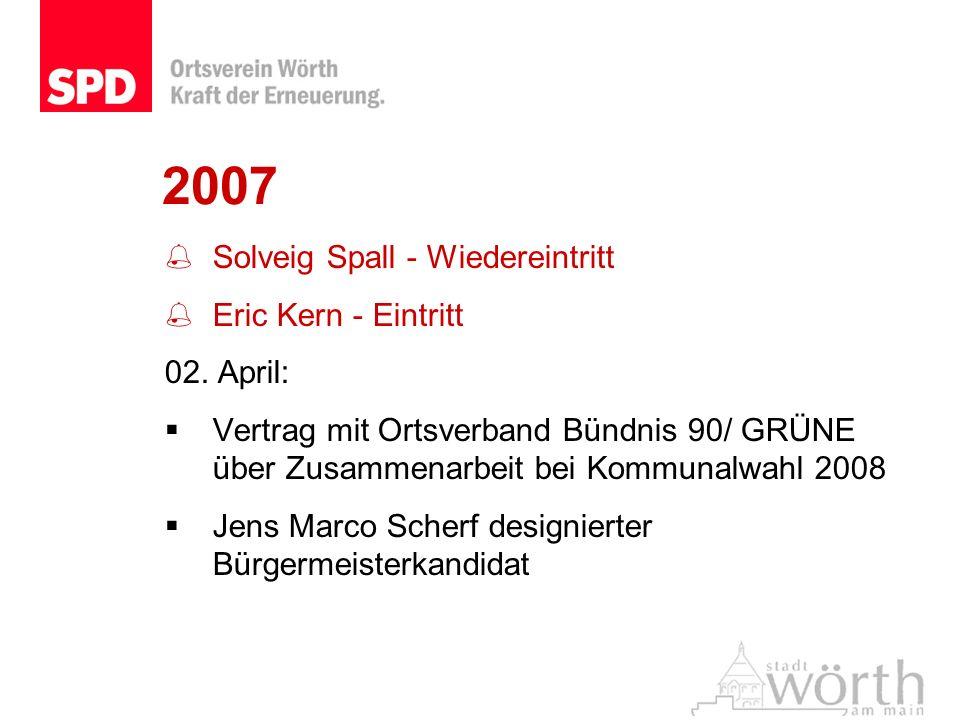 2007 Solveig Spall - Wiedereintritt Eric Kern - Eintritt 02. April: