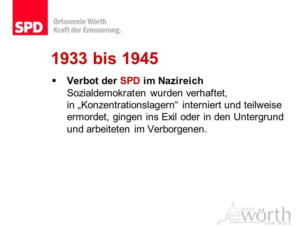 1933 bis 1945