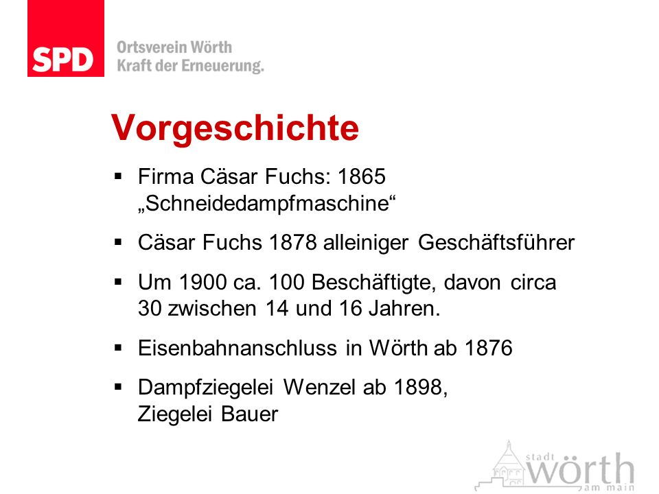 """Vorgeschichte Firma Cäsar Fuchs: 1865 """"Schneidedampfmaschine"""