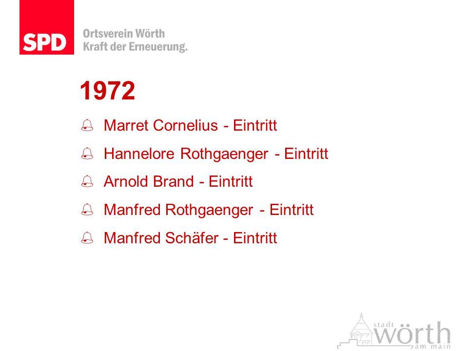 1972 Marret Cornelius - Eintritt Hannelore Rothgaenger - Eintritt