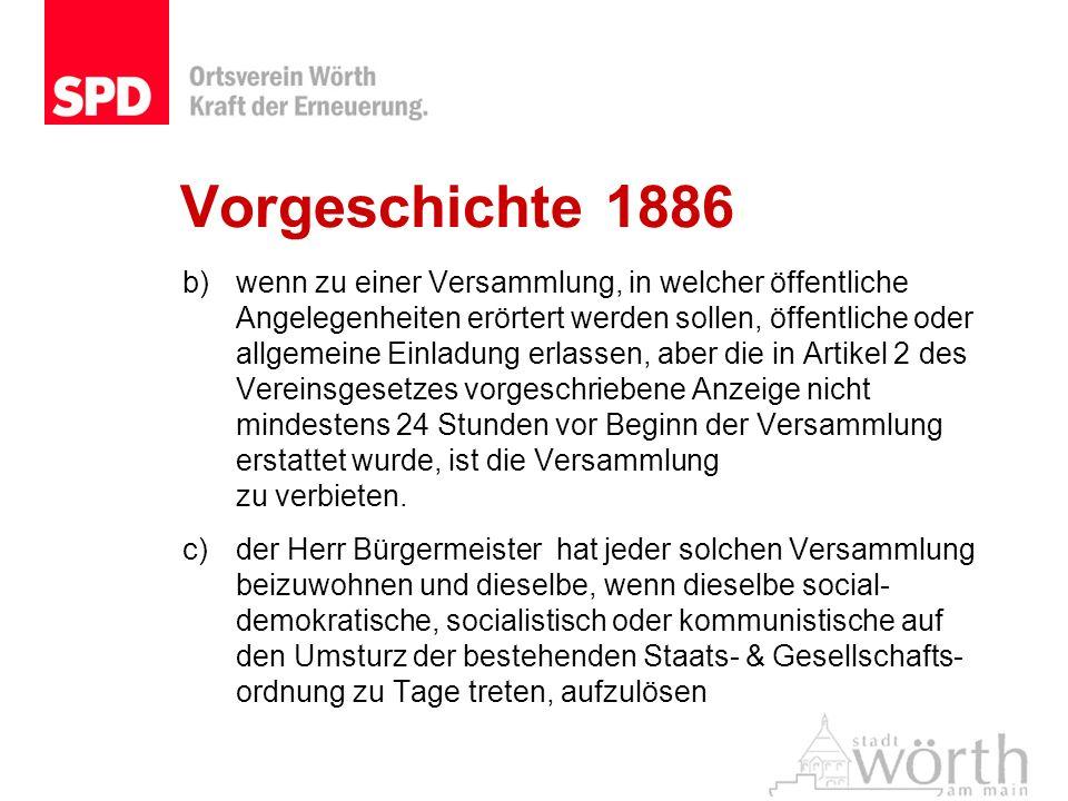 Vorgeschichte 1886
