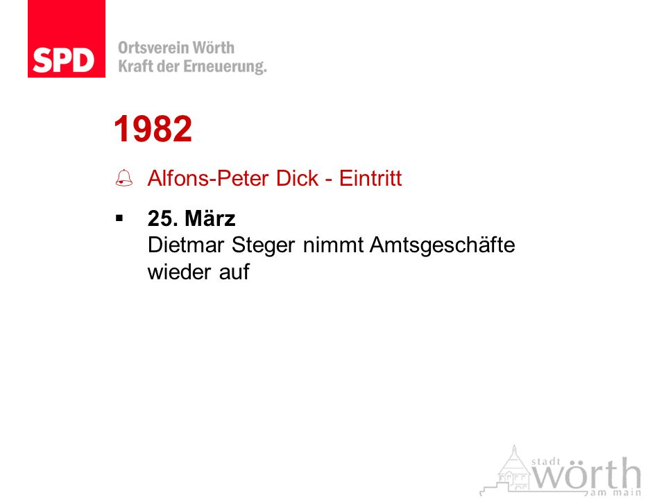 1982 Alfons-Peter Dick - Eintritt