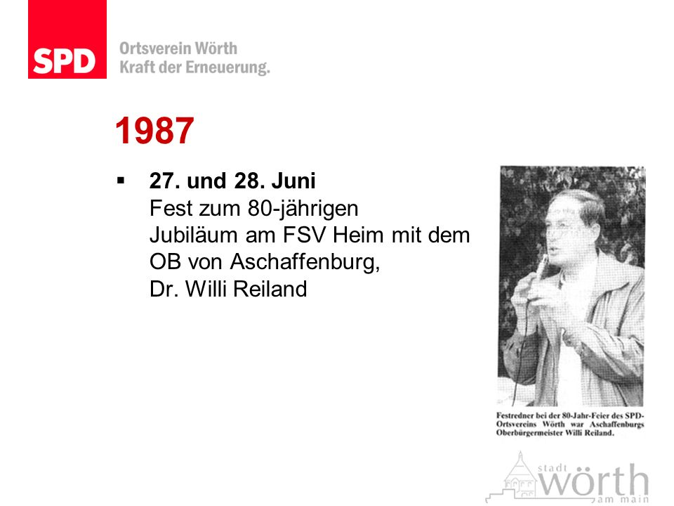198727.und 28. Juni Fest zum 80-jährigen Jubiläum am FSV Heim mit dem OB von Aschaffenburg, Dr.