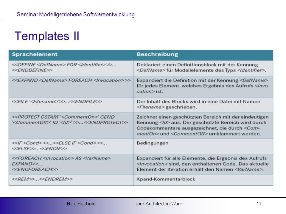 Templates II Nico Suchold openArchitectureWare