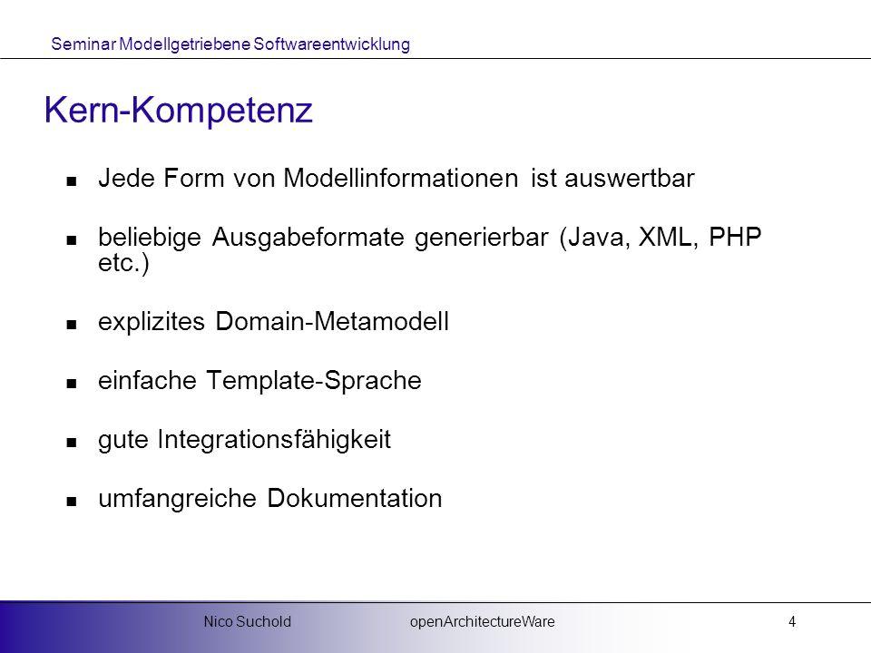 Kern-Kompetenz Jede Form von Modellinformationen ist auswertbar
