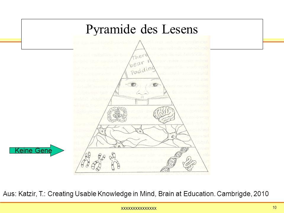 Pyramide des Lesens Keine Gene