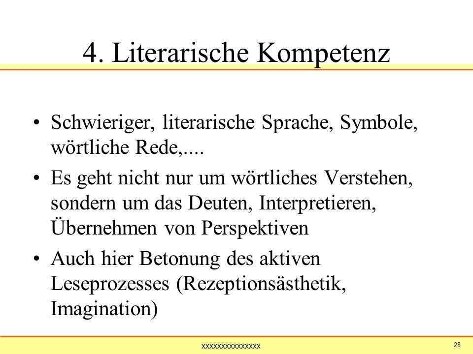 4. Literarische Kompetenz