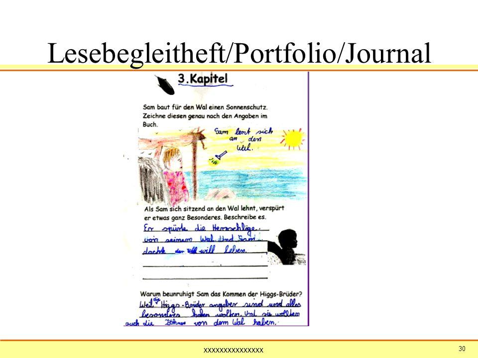 Lesebegleitheft/Portfolio/Journal (Sams Wal)