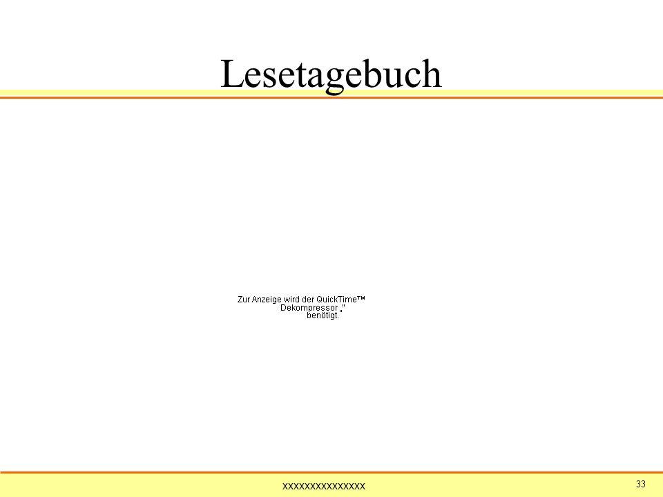 Lesetagebuch 33