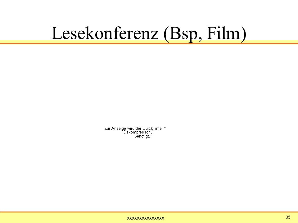 Lesekonferenz (Bsp, Film)