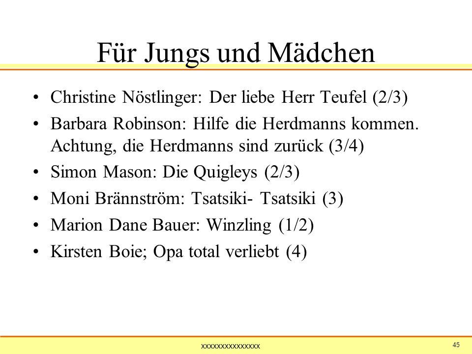 Für Jungs und Mädchen Christine Nöstlinger: Der liebe Herr Teufel (2/3)