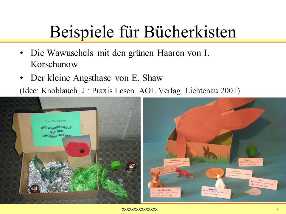 Beispiele für Bücherkisten
