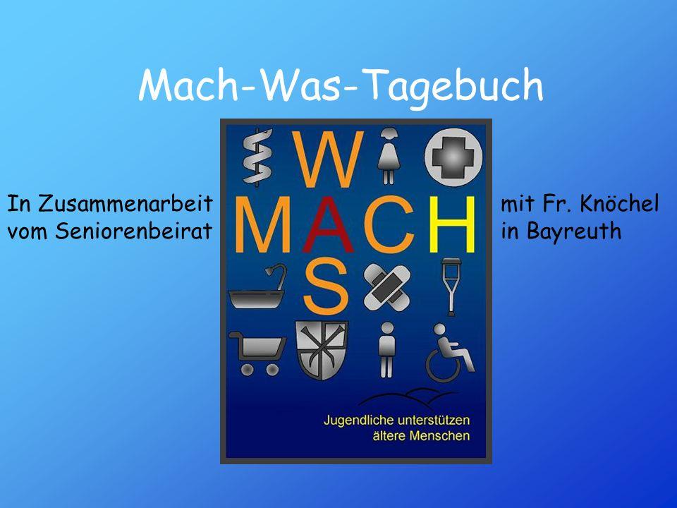 Mach-Was-Tagebuch In Zusammenarbeit mit Fr. Knöchel