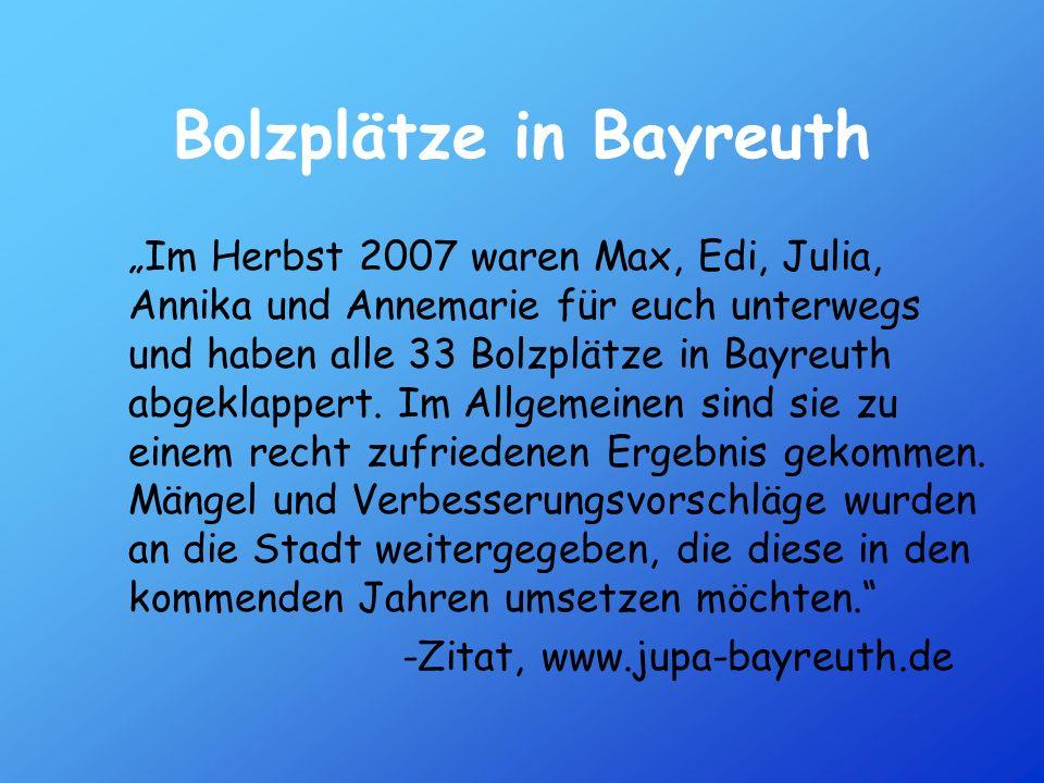 Bolzplätze in Bayreuth