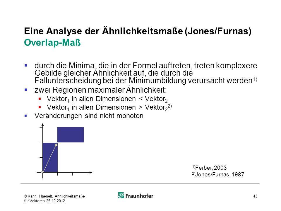 Eine Analyse der Ähnlichkeitsmaße (Jones/Furnas) Overlap-Maß