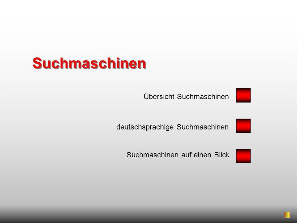 Suchmaschinen Übersicht Suchmaschinen deutschsprachige Suchmaschinen