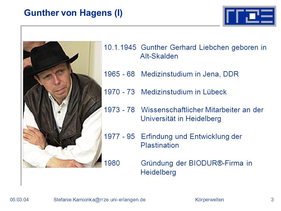 Gunther von Hagens (I) 10.1.1945 Gunther Gerhard Liebchen geboren in
