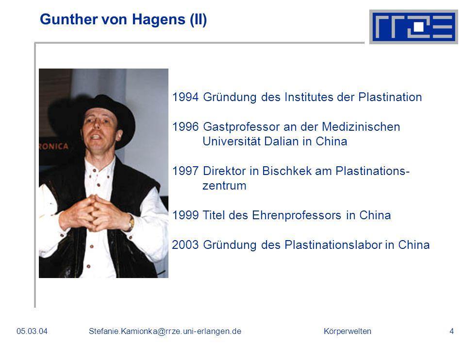 Gunther von Hagens (II)