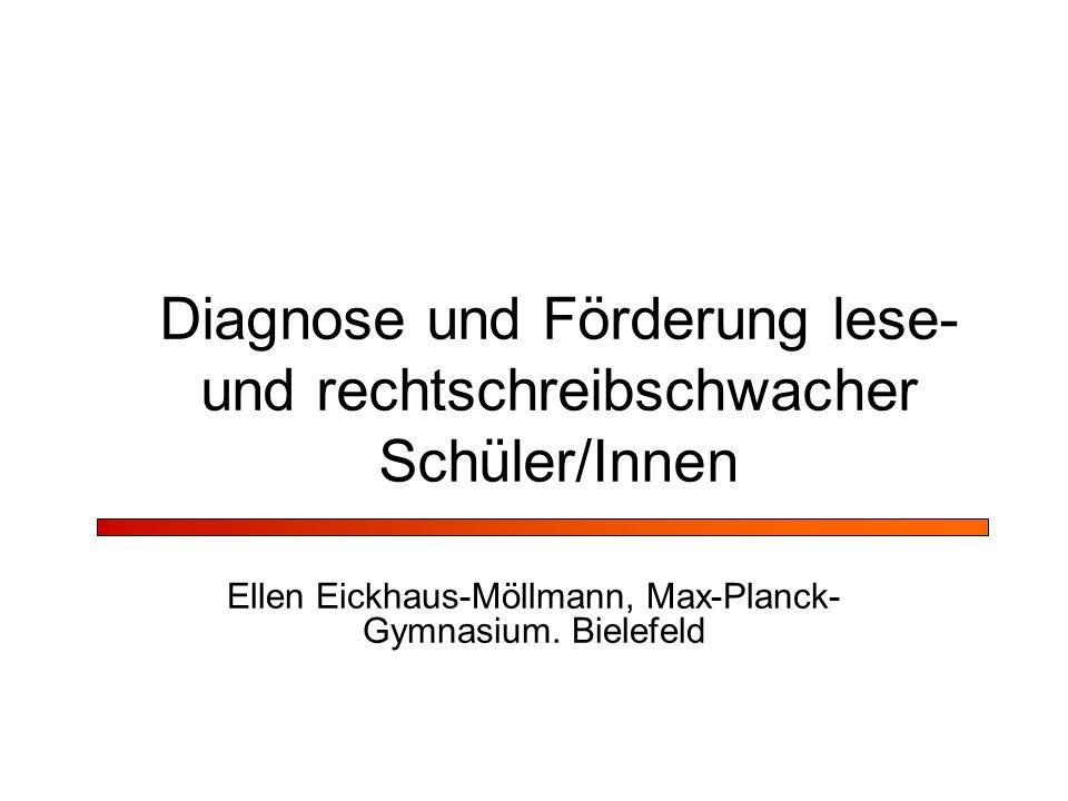 Diagnose und Förderung lese- und rechtschreibschwacher Schüler/Innen