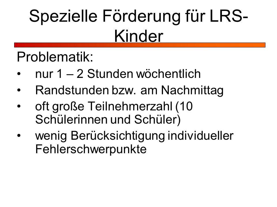 Spezielle Förderung für LRS-Kinder