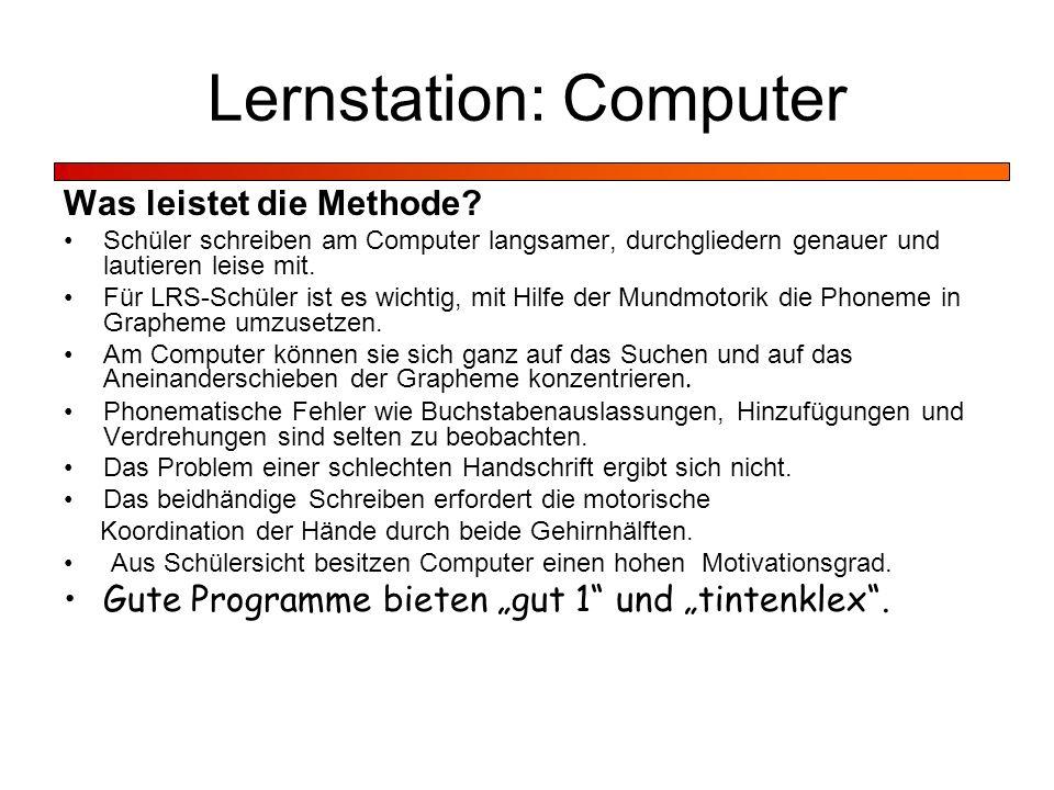 Lernstation: Computer
