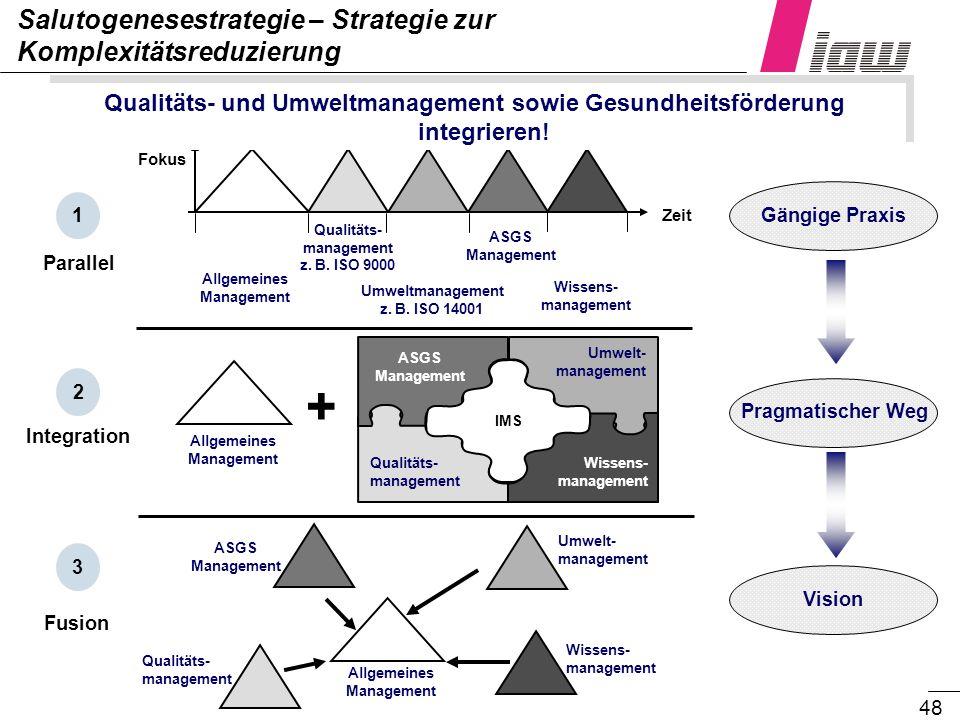 + Salutogenesestrategie – Strategie zur Komplexitätsreduzierung